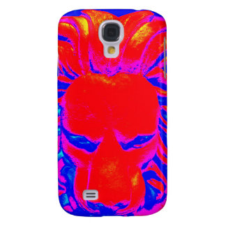 Jungle Lion red and blue phone case