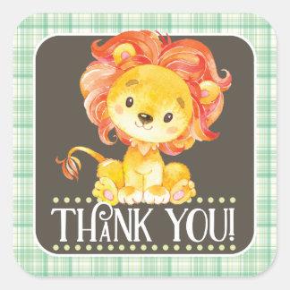 Jungle Lion Thank You Sticker