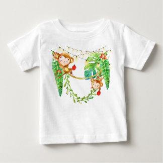 Jungle Monkey Christmas Baby T-Shirt