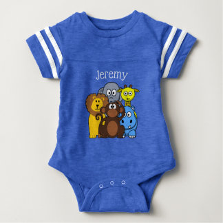 Jungle or Zoo Animals Themed Personalized Baby Tee