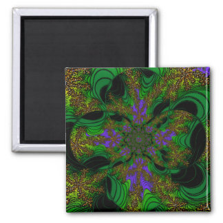 """""""Jungle Orchids"""" ~ Abstract Art Print Magnet"""
