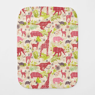 Jungle Paradise Baby Burp Cloth