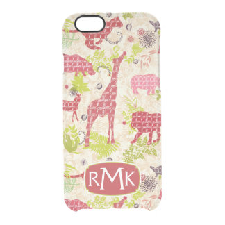 Jungle paradise | Monogram Clear iPhone 6/6S Case