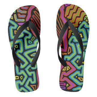 Jungle Parrot Flip Flops - Zorries - Go Aheads