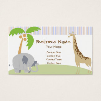 Jungle Party Business Cards