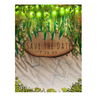 JUNGLE PARTY Leaves & Animal Print Save the Date Postcard