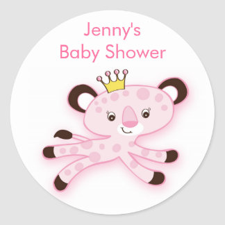 Jungle Queen Baby Shower Stickers Envelope Seals