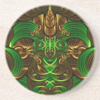 Jungle Roots Mandala Drink Coasters