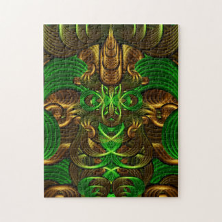 Jungle Roots Pattern Jigsaw Puzzle