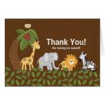 Jungle Safari Animal Neutral Baby Shower Greeting Card