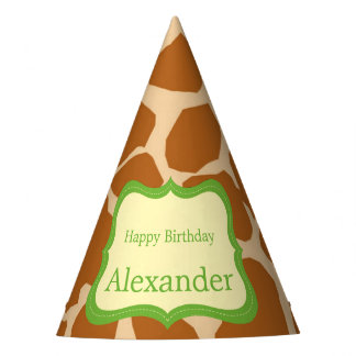 Jungle safari animal neutral gender birthday party hat