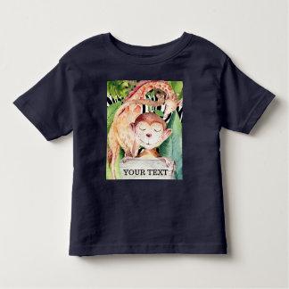 Jungle Safari Animals Giraffe Monkey Personalized Toddler T-shirt