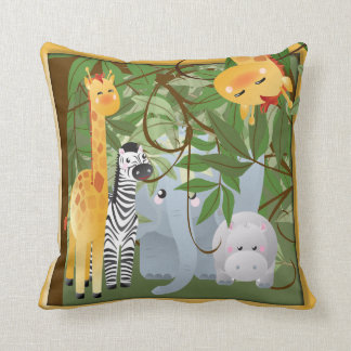 Jungle Safari Animals Kids Room Pillow