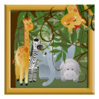 Jungle Safari Animals Kids Room Poster