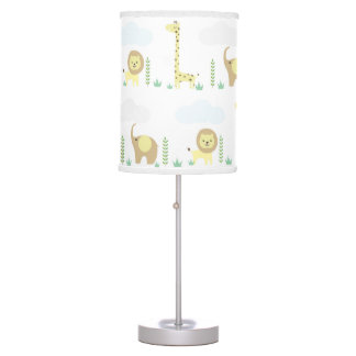 Jungle Safari Animals Nursery Kids Room Table Lamp