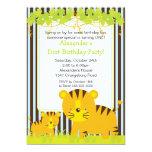 Jungle Safari Baby Tiger Birthday Party Invitation