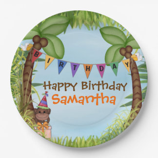 Jungle Safari Birthday Paper Plate