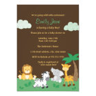 Jungle Safari Boy Baby Shower Invite