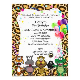 Jungle Safari Children s Birthday Party Invites