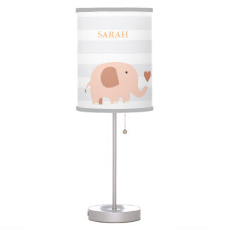 Jungle Safari Elephant Nursery Kids Room Lamp