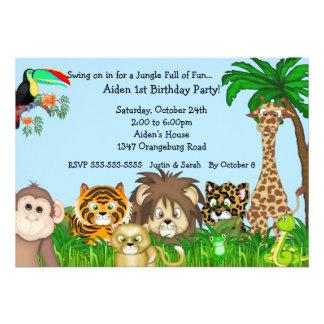 Jungle Safari Fun Birthay Party Personalized Invitation