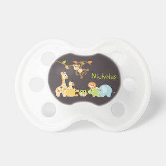 Jungle Safari Monkey Personalized Pacifier