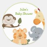 JUNGLE SAFARI Round Favour Stickers