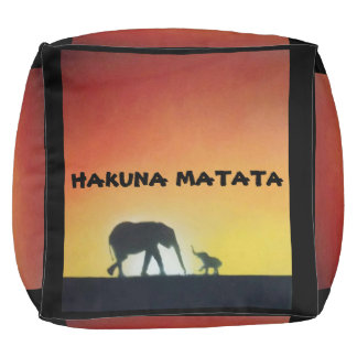 jungle safari spray paint art pouf