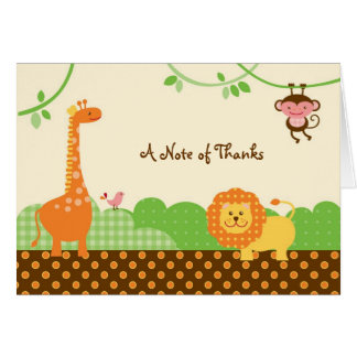 Jungle Safari Thank You / Note Card