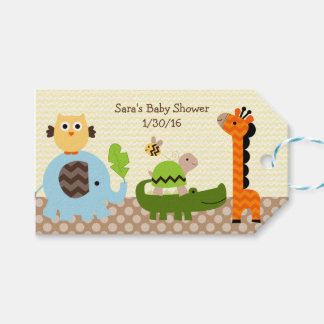 Jungle Stack Animals Baby Shower Favor Tags Pack Of Gift Tags