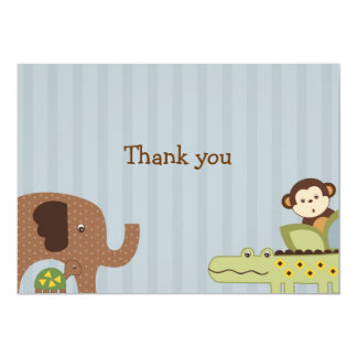 Jungle Story Jungle Animal Thank You Note Cards Invites