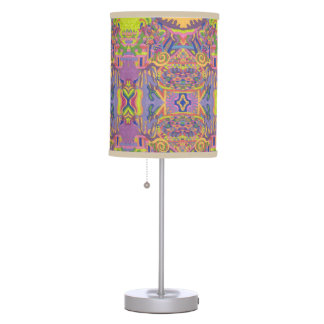 """Jungle Stripes II"" Abstract Art mirror patterned Table Lamp"
