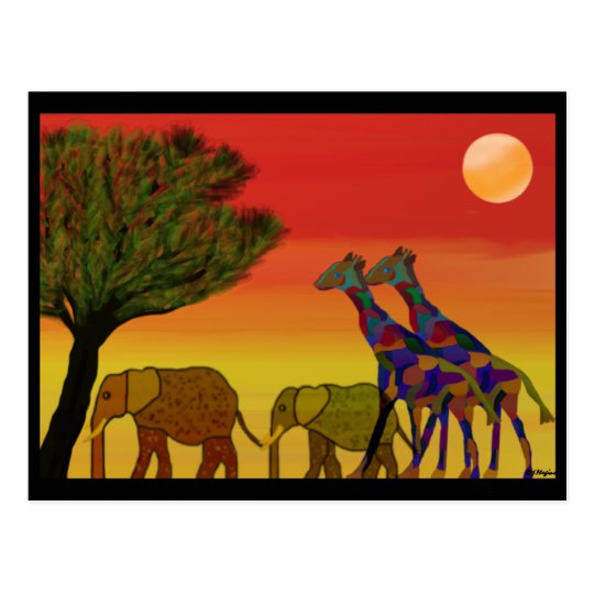 Jungle Sunset Postcard