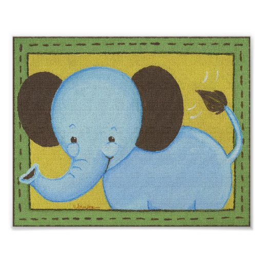Jungle Tales Elephant Poster