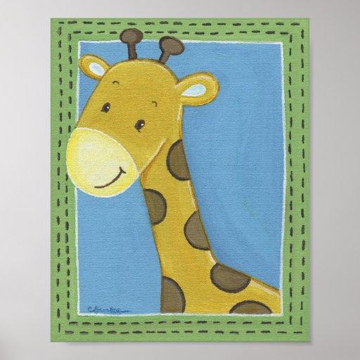 Jungle Tales Giraffe Wall Art Poster