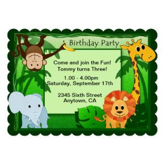 Jungle Theme Birthday Party Invite