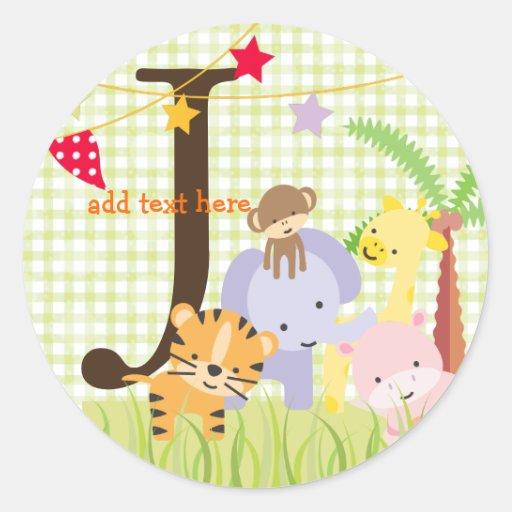 Jungle Theme stickers/add monogram