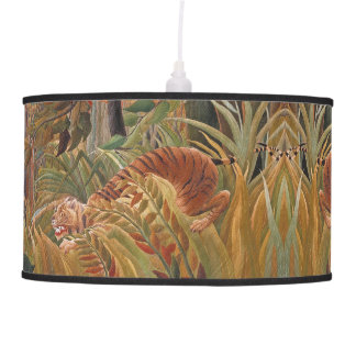 Jungle Tiger Africa Wildlife Animals Hanging Lamp
