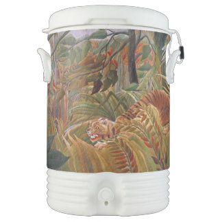Jungle Tiger Wildlife Animal Rain Igloo Cooler