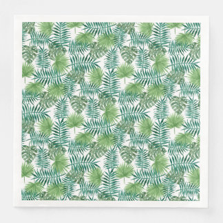 Jungle Tropical Leaves Elegant Nature Disposable Napkin