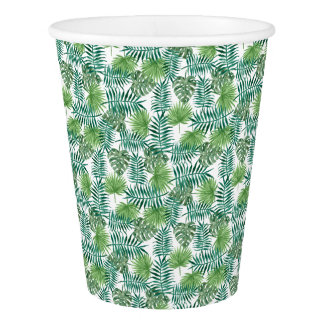 Jungle Tropical Leaves Elegant Nature Paper Cup