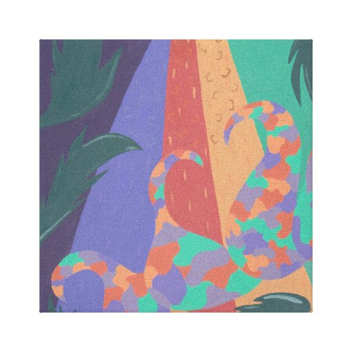 """""""Jungle"""" Wrapped Canvas Stretched Canvas Print"""