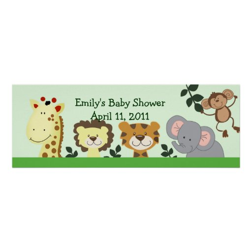 JUNGLE ZOO PARTY Customizable Birthday Banner Print