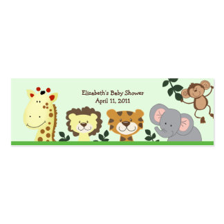 Jungle Zoo Party Shower / Birthday Favor Tag Business Cards