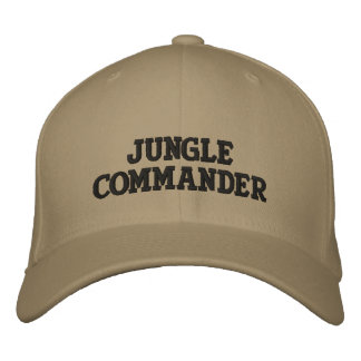 JUNGLECOMMANDER EMBROIDERED BASEBALL CAPS