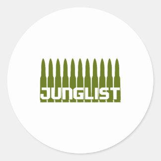 Junglist Green Round Sticker