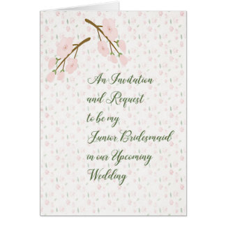 Junior Bridesmaid Invitation and Request Card