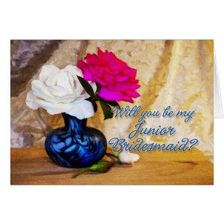 Junior bridesmaid wedding party invitation