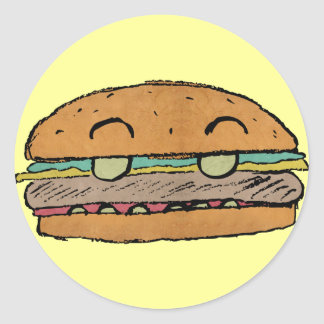 Junior Burger Sticker