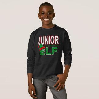 Junior Elf   Christmas Holiday Elf Family Funny   T-Shirt